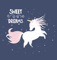 cute magical unicorn hand drawn elements for your vector image vector image