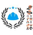 developer laureal wreath icon with lovely bonus vector image