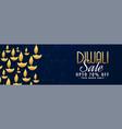 diwali sale banner with offer details vector image