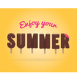 enjoy your sumer ice cream lettering vector image