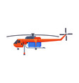 firefighting helicopter emergency service vehicle vector image vector image