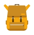 flat hiking travel backpack bag vector image