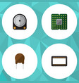 flat icon device set of mainframe triode unit vector image vector image