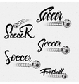 Football Soccer Hand lettering badges and labels vector image vector image