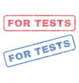 for tests textile stamps vector image vector image