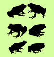 frog silhouette vector image