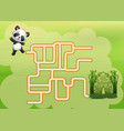 game panda maze find their way to the bamboo fores vector image