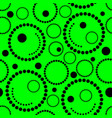 geometric green background circles vector image vector image