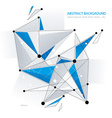 Geometric structure vector image vector image