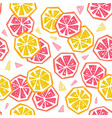 half lemon and grapefruit seamless pattern vector image