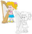 Harpist vector image vector image