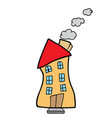 house doodle vector image