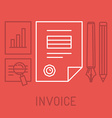 invoice concept in outline style vector image