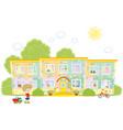 kindergarten vector image vector image