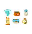 kitchen utensils set cooking tools measuring cup vector image vector image
