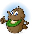 kiwi fruit cartoon character vector image vector image