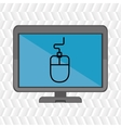 laptop with mouse blue isolated icon design vector image