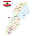 lebanon administrative and political map with vector image vector image