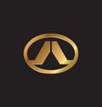 letter a emblem logo design concept template vector image