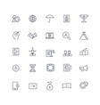 line icons set business pack vector image vector image
