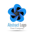 Logo Design Template Abstract Wing Icon for your vector image vector image