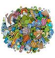 mauritus hand drawn cartoon doodles vector image vector image