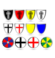 medieval shields vector image vector image