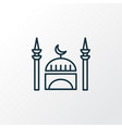 mosque icon line symbol premium quality isolated vector image vector image