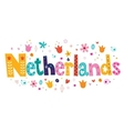 Netherlands Holland decorative lettering vector image vector image