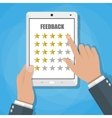 online review feedback concept vector image