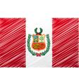 Peruvian flag vector image vector image