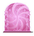 pink portal isolated on white background vector image