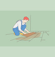 repair installation renovation carpentry work vector image