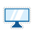 screen computer display equipment vector image