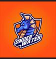 seahorse head esport logo vector image vector image