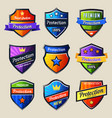 set isolated shields for protectionsafety icon vector image vector image