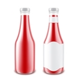 Set of Blank Glass Tomato Ketchup Bottle Isolated vector image vector image
