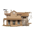 Sheriffs house prison and scaffold vector image vector image