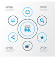 social colorful icons set collection of chatting vector image vector image