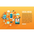 Social media concept with place for text Flat vector image vector image