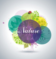 Spring or Summer Floral Background vector image vector image