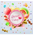 sweet shop candy label vector image vector image