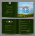 Template booklet design - Wine list or catalog vector image