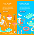 territory water park concept banner vecrtical vector image vector image