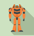 toy robot transformer icon flat style vector image vector image