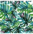 Tropical palm leaves jungle leaves seamless