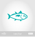 tuna outline icon fishing vacation vector image