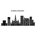 usa florida orlando architecture city vector image vector image