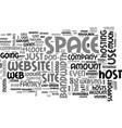 What to look for in a web host text word cloud vector image