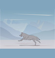 wolf on nature background vector image vector image
